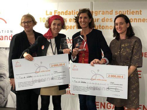 Notre association remporte deux prix suite à l'appel à projet de la Fondation LEGRAND