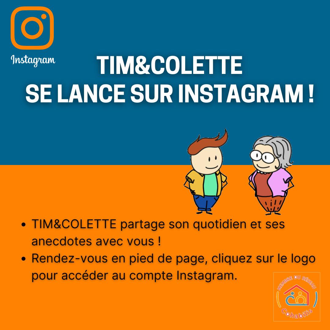 TIM&COLETTE SE LANCE SUR INSTAGRAM !